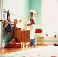 Craft homework playroom combo on pinterest industrial for Playroom living room combination