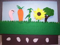 flannel friday, storytim idea, flannelstori board, stori time, popup, garden stori, felt board, preschool, flannel boards