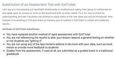 SAMR with Exit Ticket: http://exitticket.org/samr-aligned/