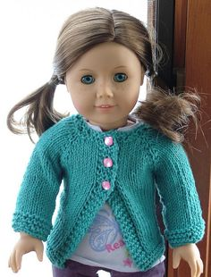 free poppy cardigan american girl dolls**