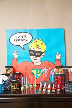 Vintage Comic Super Hero Pop Art Party!