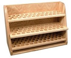 "Amazon.com: 144-Bottle Essential Oil Display Rack 3-Shelf 5-15ml with 1 1/8"" holes: Health & Personal Care"