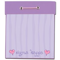 Sigma Kappa Sorority Square Notepad $8.49 #Greek #Sorority #Accessories #NotePad #SigmaKappa #SigKap
