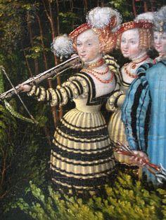Hunting near Hartenfels Castle, Lucas Cranach the Elder - detail