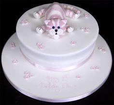 fondant cat cake