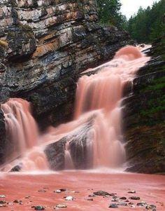 Red waterfall, Cameron Falls