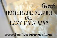 Homemade Greek Yogurt the Easy Way (in the slow cooker!) - If you can pour milk, you can make yogurt! | Feathers in Our Nest