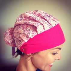 Ribbon scrub hat