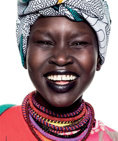 black people africa, alek wek, seed beads, beautiful black people