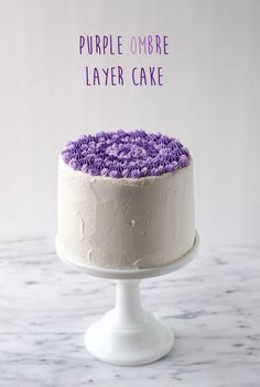 Purple Ombre Layer Cake - The Cake Merchant