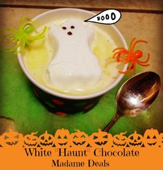 "Kids Halloween Recipes:White ""Haunt"" Chocolate! #Halloween #Recipes #Kids"