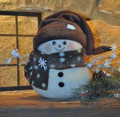 SNOWMAN. How cute is this!!!