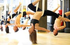 Aerial Yoga! Would love to try this!