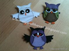 "Spooky Owls - love the ""mummy"""