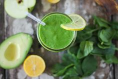 The Body Book™ Green Smoothie // nutritionstripped.com #vegan #greensmoothie #smoothie