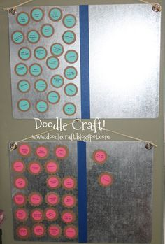 Doodle Craft...: Summertime daily Job/Chore Charts!