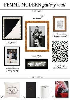 FEMME MODERN New Gallery Wall Scheme | Erika Brechtel | Brand Stylist