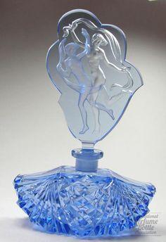 Blue Scarf Dancers: Czechoslovakian Molded & polished crystal by Vogel & Zappe 1930-38