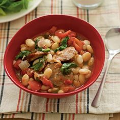 White Bean and Sausage Saute
