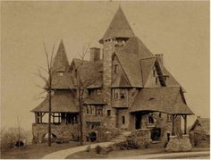 """""""Overcliff"""" - Home of Edwin K. Martin, who was the President of the American Real Estate Company, the builders of Park Hill.  This residence still exists today located on Alta Avenue in Park Hill."""