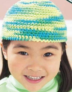 Learn how to make this cute cool knit cap to keep kids warm this winter.