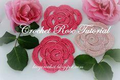 Lacy Crochet: Crochet Rose Tutorial