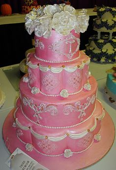 pink cake, via Flickr.