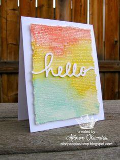 LOVE, LOVE, LOVE this card from Allison Okamitsu