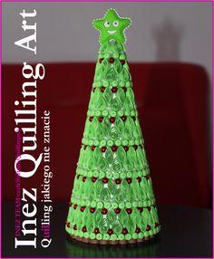 Inez Quilling Art quill christma, christma tree, star, quill art, inez quill, quilling, christmas trees, art christma