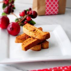 Easy gingerbread biscotti recipe