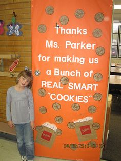 door decorating ideas for teachers | That's Aly Starbuck there. She's one of the smart cookies.