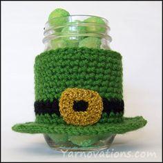 St. Patricks day jar cozy FREE Pattern