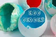 Egg Geodes, made from ingredients you probably already have in the pantry. This would make for a great science fair project!
