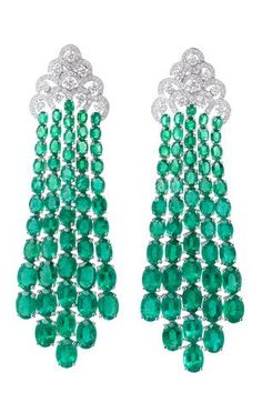 Miiori diamond and emerald earrings