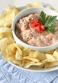 The Galley Gourmet: Bacon and Tomato Dip with Black Pepper Potato Chips