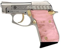Taurus PT-22 Small Frame 22 LR Pistol in Nickel W/Gold Highlights Finish