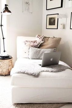 a comfy couch corner.