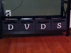 Thirty-One Rectangles for DVDs! Great idea for embroidery