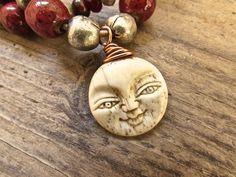Handmade Moon Goddess double strand bracelet.
