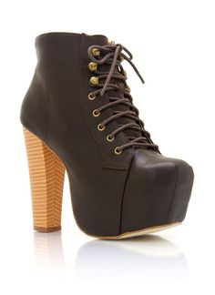 chunky faux leather booties $39.00