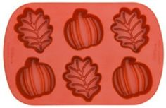 Pumpkin and Leaves Silicone Pan by Wilton