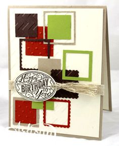 We're loving this cute geometric card!