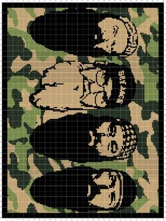 Duck dynasty faces crochet pattern