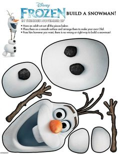 "Frozen Build a Snowman - Free ""Frozen"" Disney activities for children"