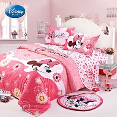 Minnie Mouse Pink Duvet Cover Bedding Set, 2012 New Style, Girls love it!