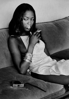 """I never diet. I smoke. I drink now and then. I never work out. I work very hard and I am worth every cent."" - Naomi Campbell"
