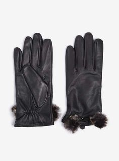 Black Leather Faux F
