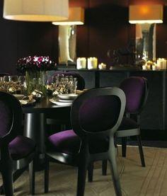 Purple & Black Chairs