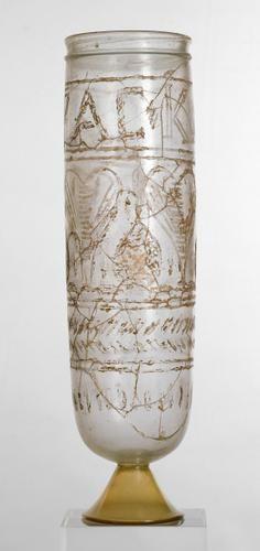 Glass drinking cup | | 4 Century AD |Roman