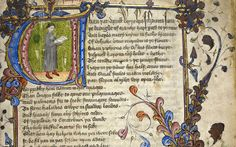 This manuscript of 'The Canterbury Tales' describes the pilgrims who assembled in Southwark. References to the capital in the Tales are plentiful, including the Prioress, whose suspect French was learnt in the 'scole of Stratford atte Bowe'.  Geoffrey Chaucer, The Canterbury Tales, early 15th century, Lansdowne MS 851 © The British Library Board